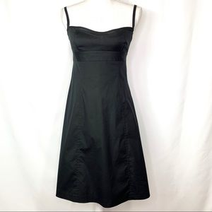 J. Crew Black Empire Waist A-Line Midi Dress 2
